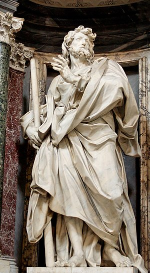 James, son of Alphaeus - Statue of St. James in the Archbasilica of St. John Lateran by Angelo de Rossi.