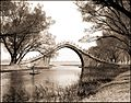 Jade Belt Bridge & Boat, Summer Palace, Peking, China (c1924) Sidney D. Gamble (RESTORED) (4079128019).jpg