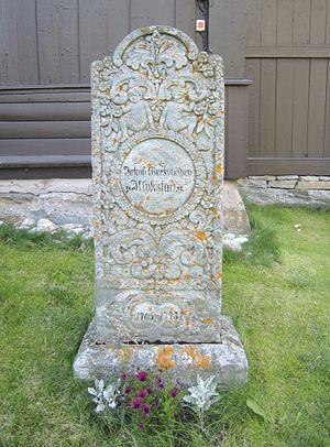 Jakob Klukstad - Klukstad's grave marker in Lesja