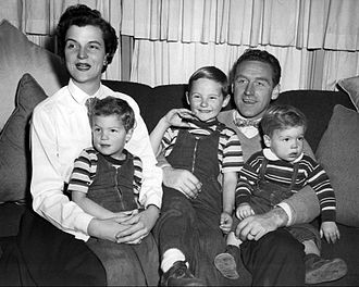 James Whitmore - Whitmore, Nancy Mygatt, and their three sons in 1954: The boys are, from left, Stephen, James, and Danny.