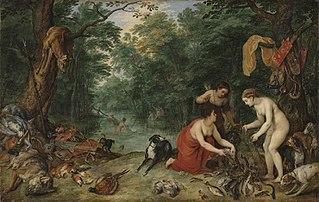 Nymphen beim Fischfang mit Hendrik van Balen