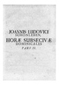 Janez Ludvik Schönleben - Horae subsecivae dominicales - book 1.pdf