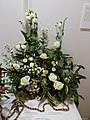 Japanese Festival in Vigadó. Barbiere Royal flower arrangement. White. - Budapest.JPG