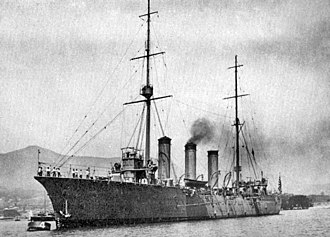 Japanese cruiser Tone (1907) - Image: Japanese cruiser Tone at unknown date