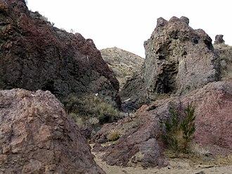 Jawbone Canyon - Image: Jawbone lava