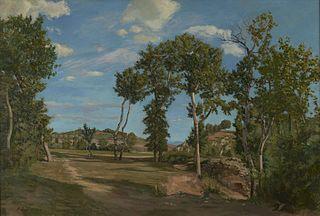 Landscape by the Lez River
