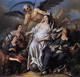 Jean-François de Troy - An Allegory of Time Unveiling Truth - WGA23082