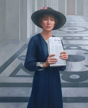 Jeannette Rankin - Rankin's portrait, by Sharon Sprung, in the House of Representatives Collection