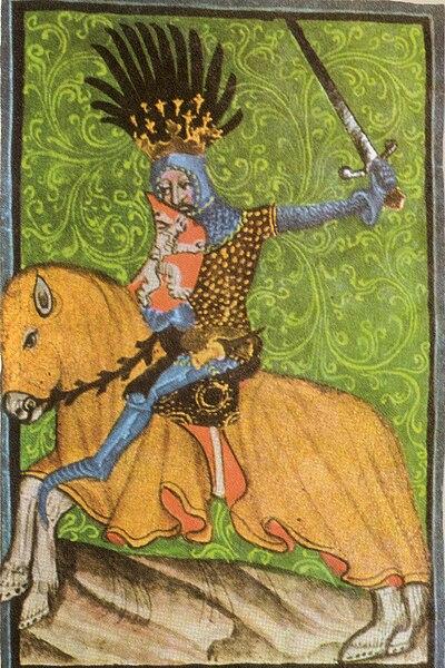 Jan Lucemburský na koni