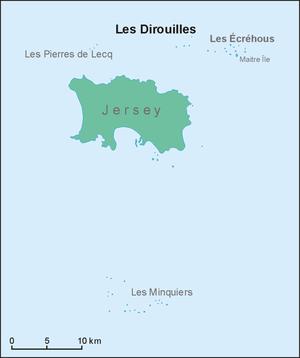 Les Dirouilles - Location map of Les Dirouilles