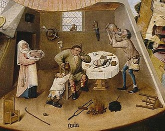 The Seven Deadly Sins and the Four Last Things - Image: Jheronimus Bosch Table of the Mortal Sins (Gula)
