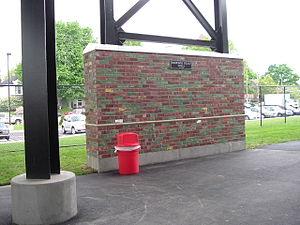 Jim Patterson Stadium - Image: Jim Patterson Stadium, brick from Parkway Field