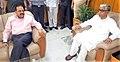 Jitendra Singh meeting the Chief Minister of Tripura, Shri Manik Sarkar, in Agartala, Tripura.jpg