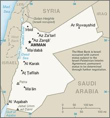 Map of Jordan.