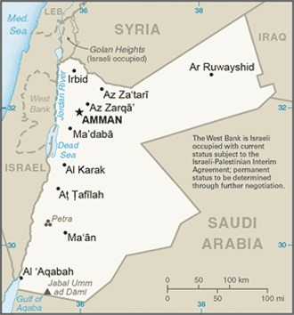 Education in Jordan - Map of Jordan