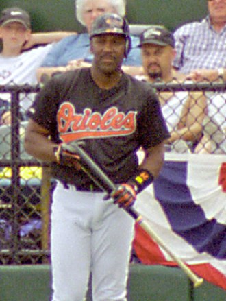 Joe Carter - Carter with the Baltimore Orioles in  spring training, 1998