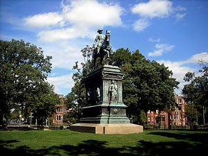 Logan Circle, Washington, D.C. - The Major General John A. Logan equestrian statue stands in the center of Logan Circle.