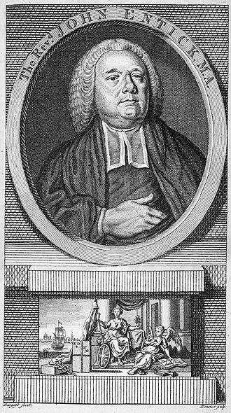 John Entick - John Entick, 1763 engraving by Guillaume Philippe Benoist