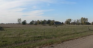 National Register of Historic Places listings in Bon Homme County, South Dakota - Image: John Frydrych farmstead from SE 2 long