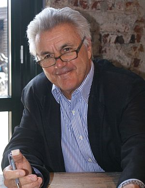 English: John Irving in Hengelo, Netherlands, ...