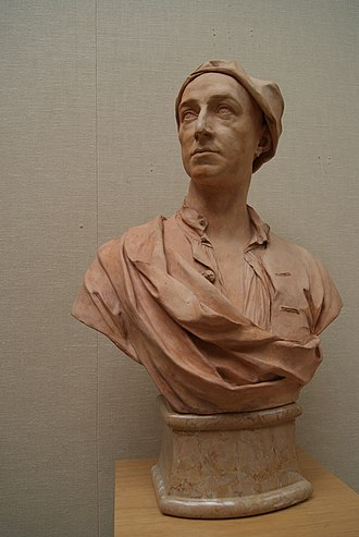 Peter Tillemans - A bust of a man believed to be Peter Tillemans, by John Michael Rysbrack (1727)