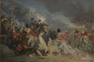 The Death of General Mercer at the Battle of Princeton, January 3, 1777 - Image: John Trumbull The Death of General Mercer at the Battle of Princeton, 3 January 1777 (unfinished version) 1832.6.2 Yale University Art Gallery