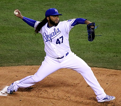 Johnny Cueto on October 28, 2015
