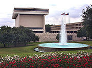 The Lyndon B. Johnson Library and Museum located on the UT Austin campus