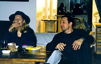 Joni Mitchell - Joni Mitchell and Peter Bogner listening to premix of Herbie Hancock's Gershwin's World (Venice Beach, California in 1999)