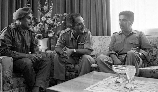 Jordanian King meets advisors on events of Black September, 17 September 1970