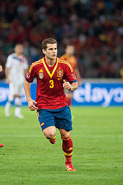 3d3853310df Nacho during his debut with Spain in 2013