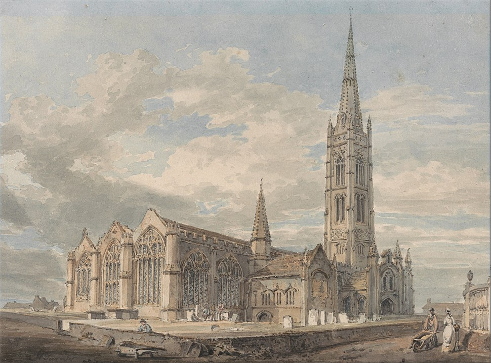 Joseph Mallord William Turner - North East View of Grantham Church, Lincolnshire - Google Art Project
