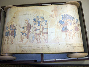 Scroll - The Joshua Roll, Vatican Library. An illuminated scroll, probably of the 10th century, created in the Byzantine empire.