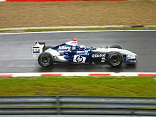 Photo de la Williams FW26 de Juan Pablo Montoya en Belgique
