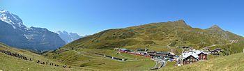 Jungfraubahn - Kleine Scheidegg Panorama.jpg