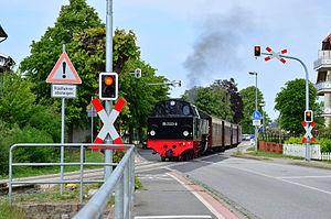 Kühlungsborn - Bäderbahn Molli at the Mitte halt in Kühlungsborn