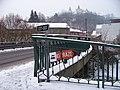 Křivoklát, most přes Rakovnický potok, pohled ke hradu.jpg