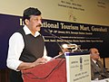 K. Chiranjeevi addressing a Press Conference on International Tourism Mart being held at Guwahati from the 18th to 20th January 2013 to highlight the tourism potential of the region in the domestic and international market.jpg