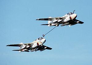 VAQ-134 - A VAQ-134 EA-6B refueling from a KA-6D from VA-165, 1982.