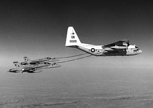 KC-130R VMGR-352 refueling VMFA-323 F-18As 1986.JPEG
