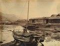 KITLV - 89941 - Beato, Felice - Japanese sailboat near the warehouses at Dejima, Nagasaki, Japan - presumably 1863-1865.tif