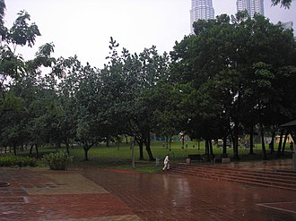 KLCC Park - Image: KLCC Park (southeast), Kuala Lumpur