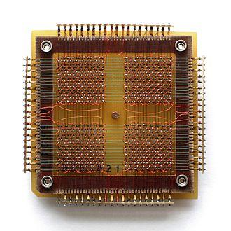 Magnetic-core memory - A 32 x 32 core memory plane storing 1024 bits of data, 128 bytes.