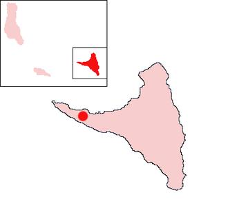 Sima, Comoros - Location of Sima on the island of Anjouan