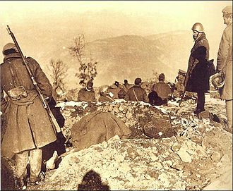 Greco-Italian War - Construction of fortifications at Kalamas
