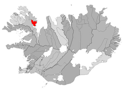 Location of the Municipality of Kaldrananeshreppur
