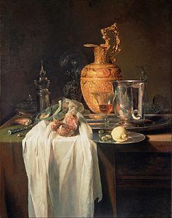 Kalf, Willem - Still Life with Ewer, Vessels and Pomegranate - Google Art Project.jpg