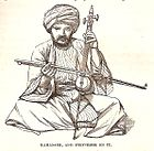 Kamanjeh, and performer on it, p. 578 in Thomson, 1859