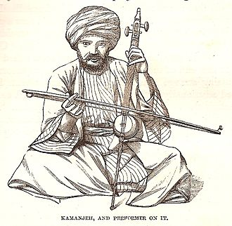 Culture of Palestine - Kamanjeh performer in Jerusalem, 1859.