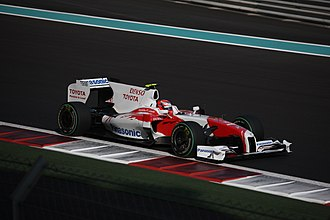 2009 Abu Dhabi Grand Prix - Kamui Kobayashi scored points in his second Formula One race.